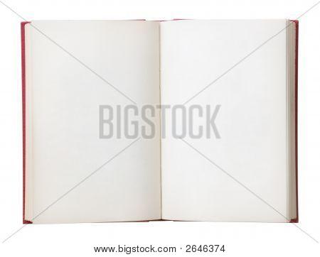 Leere Buch öffnen