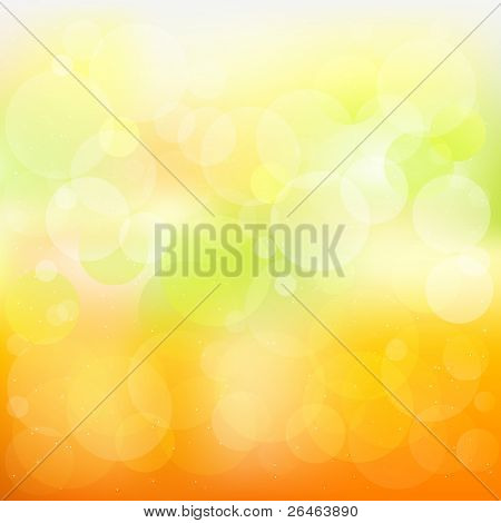 Abstract Orange And Yellow Background With Stars