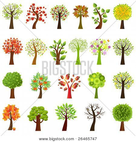 Sammlung von Strukturen, isolated on white Background, Vector illustration