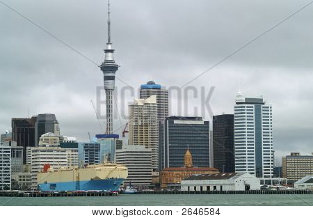 Auckland Skyline And Harbor
