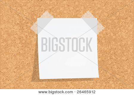 Cork Board With Notes, Vector illustration