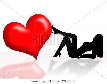 Woman And Heart