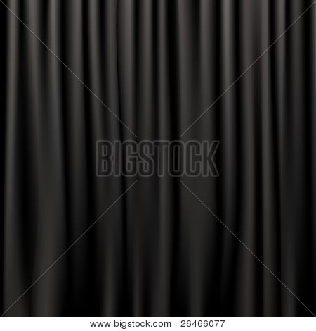Black Silk Curtains