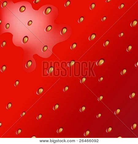 Texture Of Fresh Strawberry, Vector Illustration