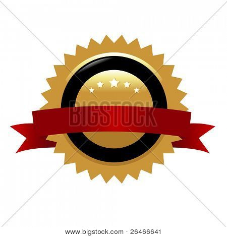 garantierte Schilder, isolated on white Background, vector illustration
