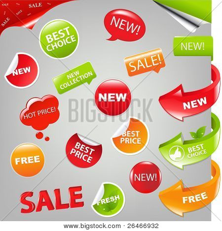 Sale Set, Vector Illustration