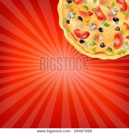 Pizza Poster, Vector Illustration