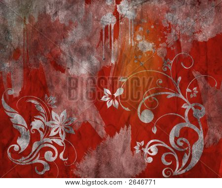 Red Grunge Backgroun
