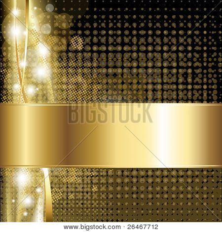 Gold Luxus Hintergrund, Vektor-illustration