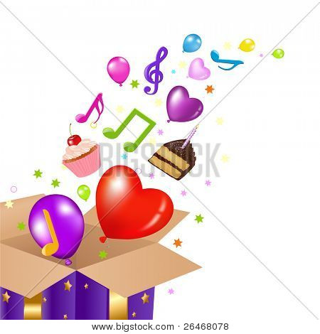Birthday Card With Box