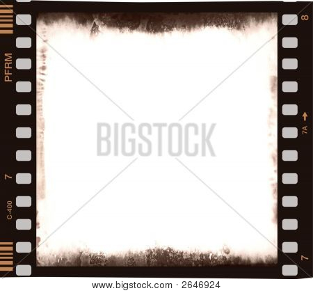 Film Strip With Empty Central Part