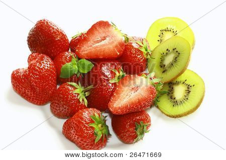 Strawberry and kiwifruit