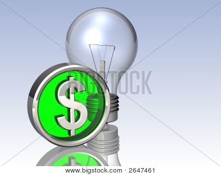 Lightbulb And Dollar Symbol
