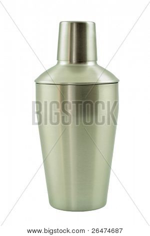 Isolated cocktail shaker on white background