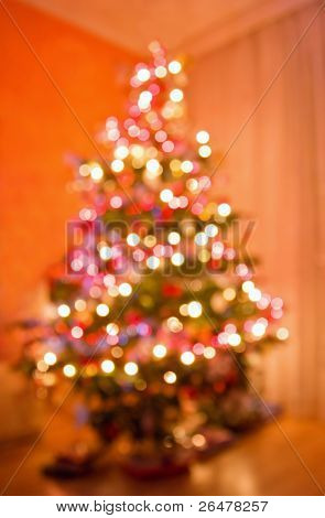 Gaily of color christmas lighting background ? blurs