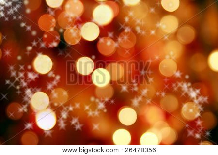 Abstract background of christmas lights