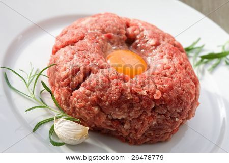 Minced meat prepared for cooking