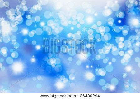 Abstract Winter Hintergrund. Christmas abstract bokeh