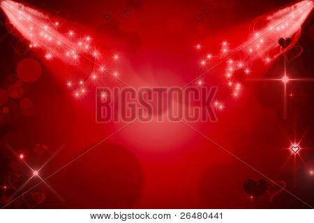 Abstrakt rot für Tag Valentine