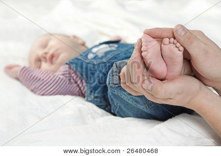 Newborn baby. Boy