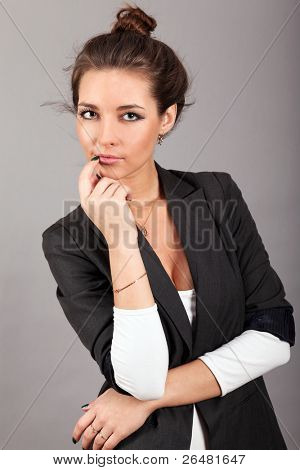 fashionable woman posing