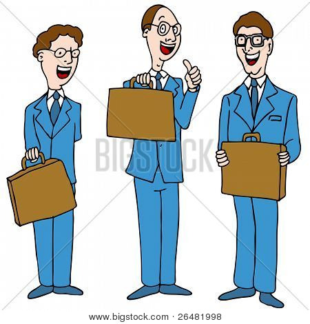 An image of a legal men wearing blue suits.