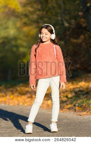 poster of Travel Early And Travel Often. Little Child Enjoy Adventure Travel. Little Child Travel In Autumn Fo