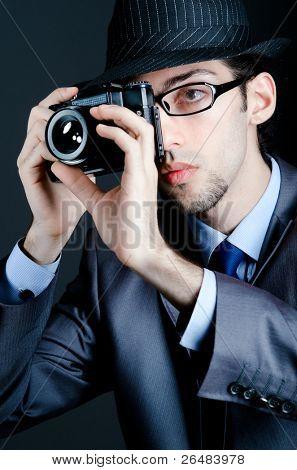 Paparazzi tentando tirar foto