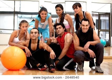 Gym People Smiling