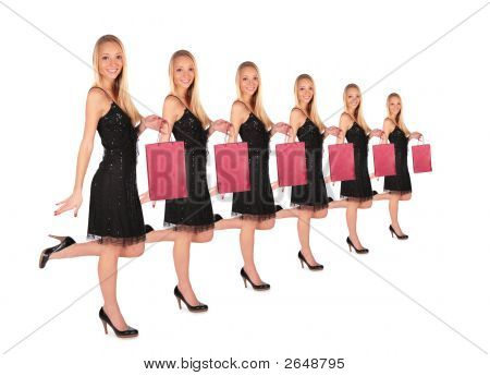 Girl Holds Small Bag Group