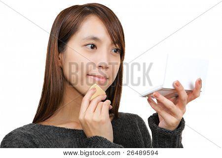 Frau makeup