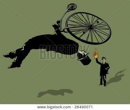 Backflip en bici antigua.