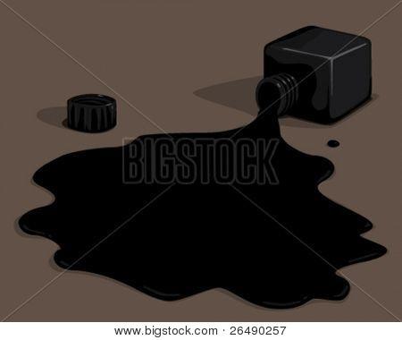 black ink.