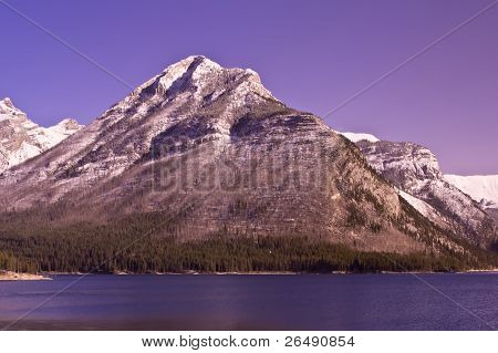 Mount Aylmer At Banff