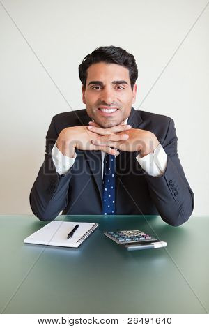 Portrait of an accountant posing in his office