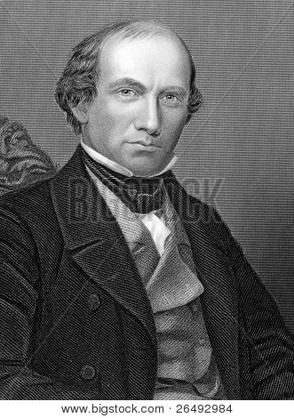 Eben Norton Horsford (1818-1893). Engraved by unkown engraver and published in Chemistry, Theoritical, Practical & Analytical, United Kingdom, 1860.
