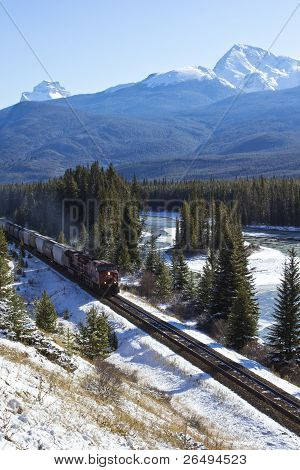 Train In The Rockies