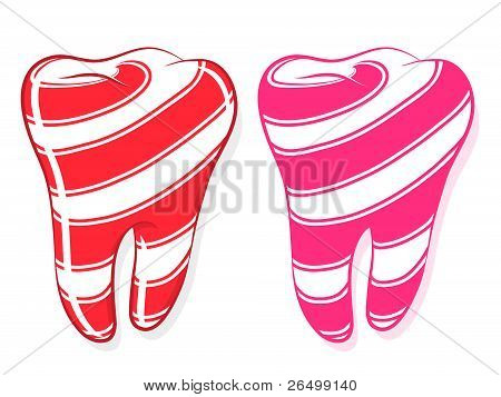 Candy Striped Teeth idiom sweet tooth