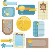 Design elements for baby scrapbook - sweet dreams cute tags
