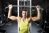 foto of weight-lifting  - health club - JPG