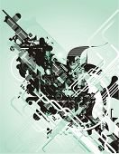 abstract futuristic vector design