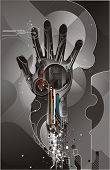 foto of cybernetics  - vector illustration of high tech cybernetic hand - JPG