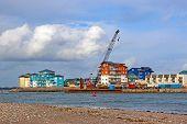 Exmouth Docks From Dawlish Warren Beach, Devon poster