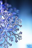 image of ice crystal  - snowflake - JPG