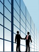stock photo of business meetings  - Business people shake hands to agree on relationship or deal - JPG
