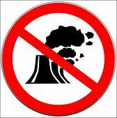 Постер, плакат: Векторный знак запрещают загрязнение