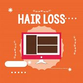 Conceptual Hand Writing Showing Hair Loss. Business Photo Showcasing Loss Of Huanalysis Hair From Th poster