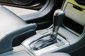 picture of gear-shifter  - Auto gear shift handle closeup - JPG