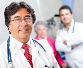 picture of geriatric  - Friendly male doctor at a geriatric hospital - JPG