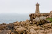 stock photo of por  - Pors Kamor lighthouse - JPG